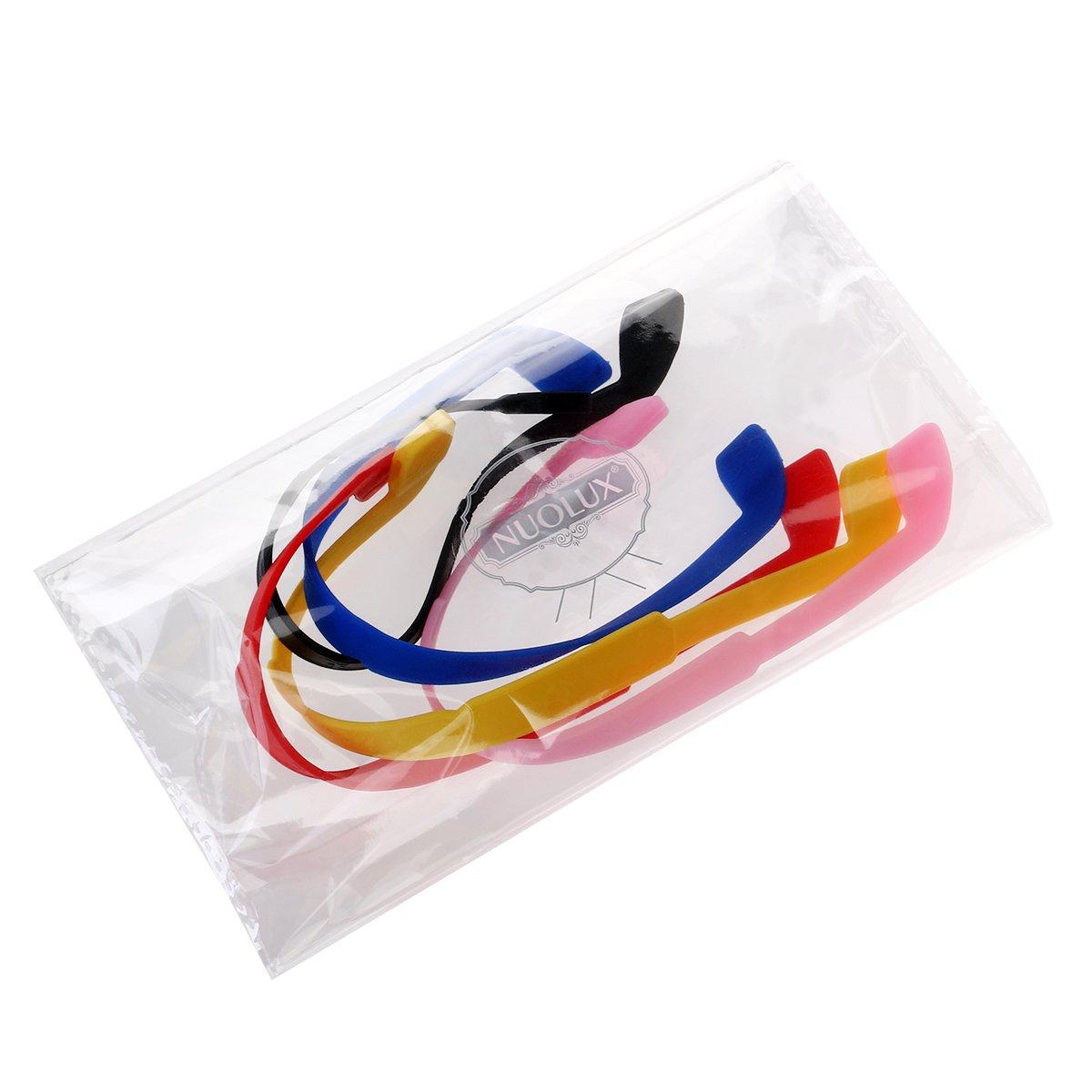 NUOLUX 5 colores gafas de sol anteojos gafas antideslizante el/ástico de silicona banda para la cabeza