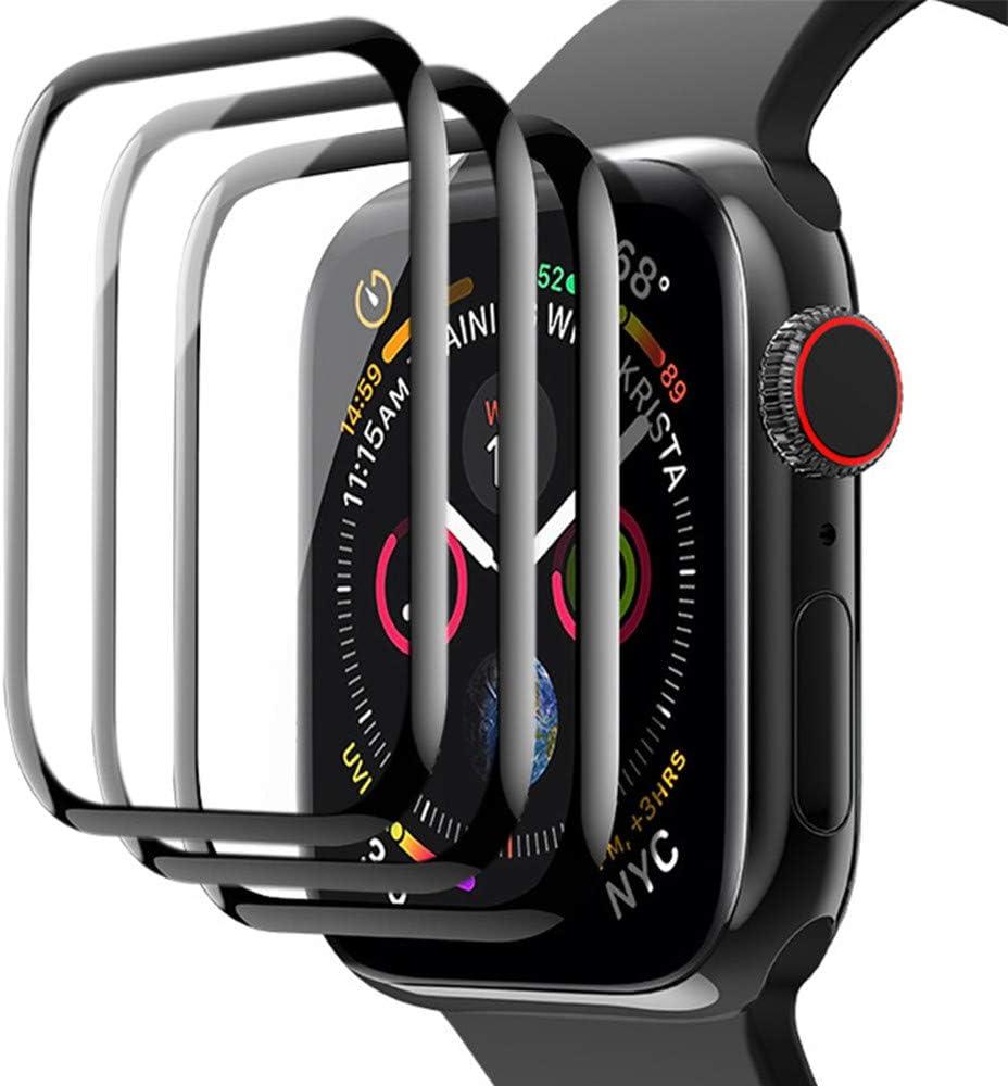 [3 Pack] Apple Watch Screen Protector 42mm Series 1/2/3, Series 3 Screen Protector, Full Coverage Scratch Resistant Waterproof Screen Film Compatible Apple iWatch 42mm