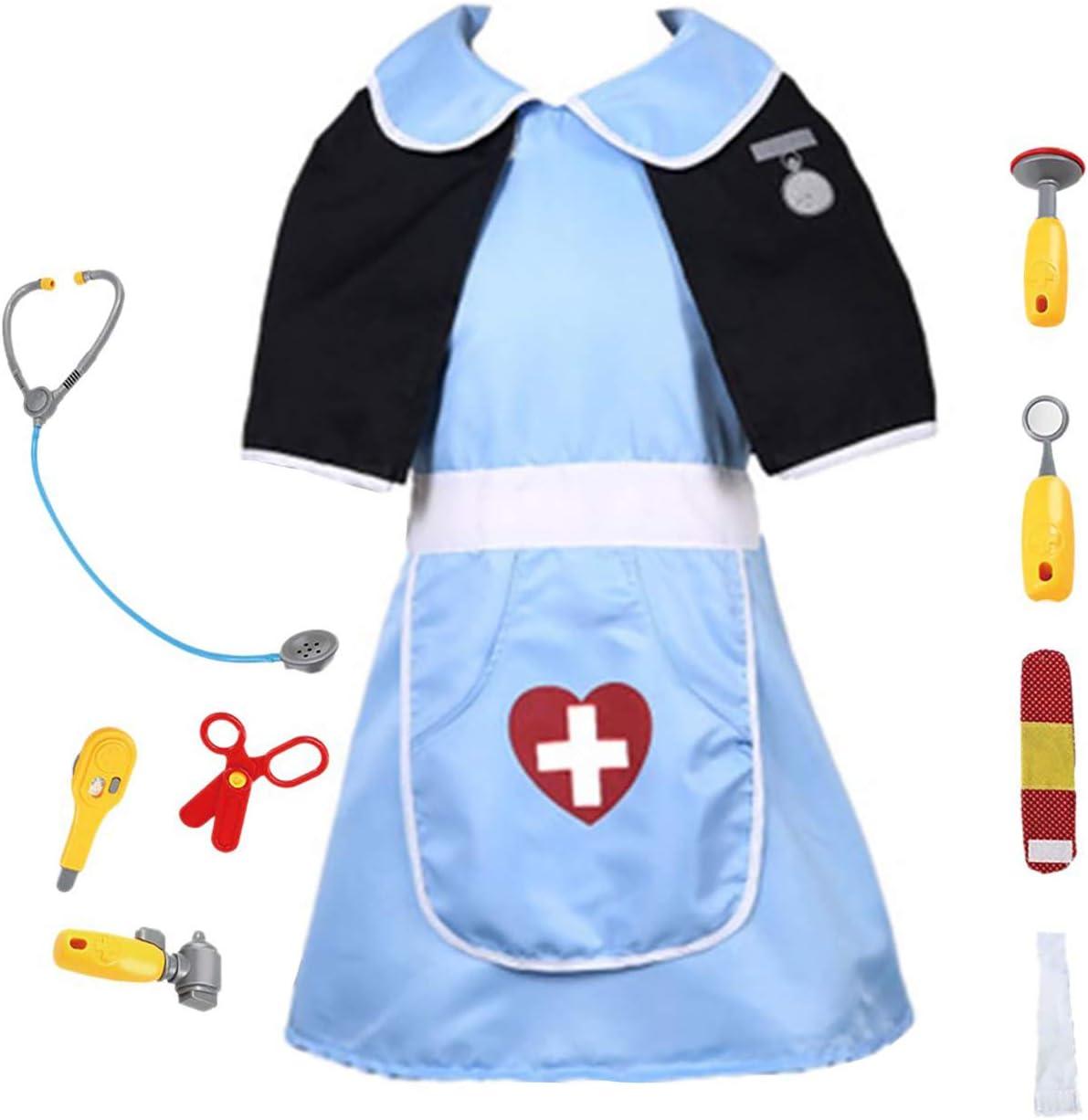 EZSTAX Disfraz de Enfermera para Niños de Halloween