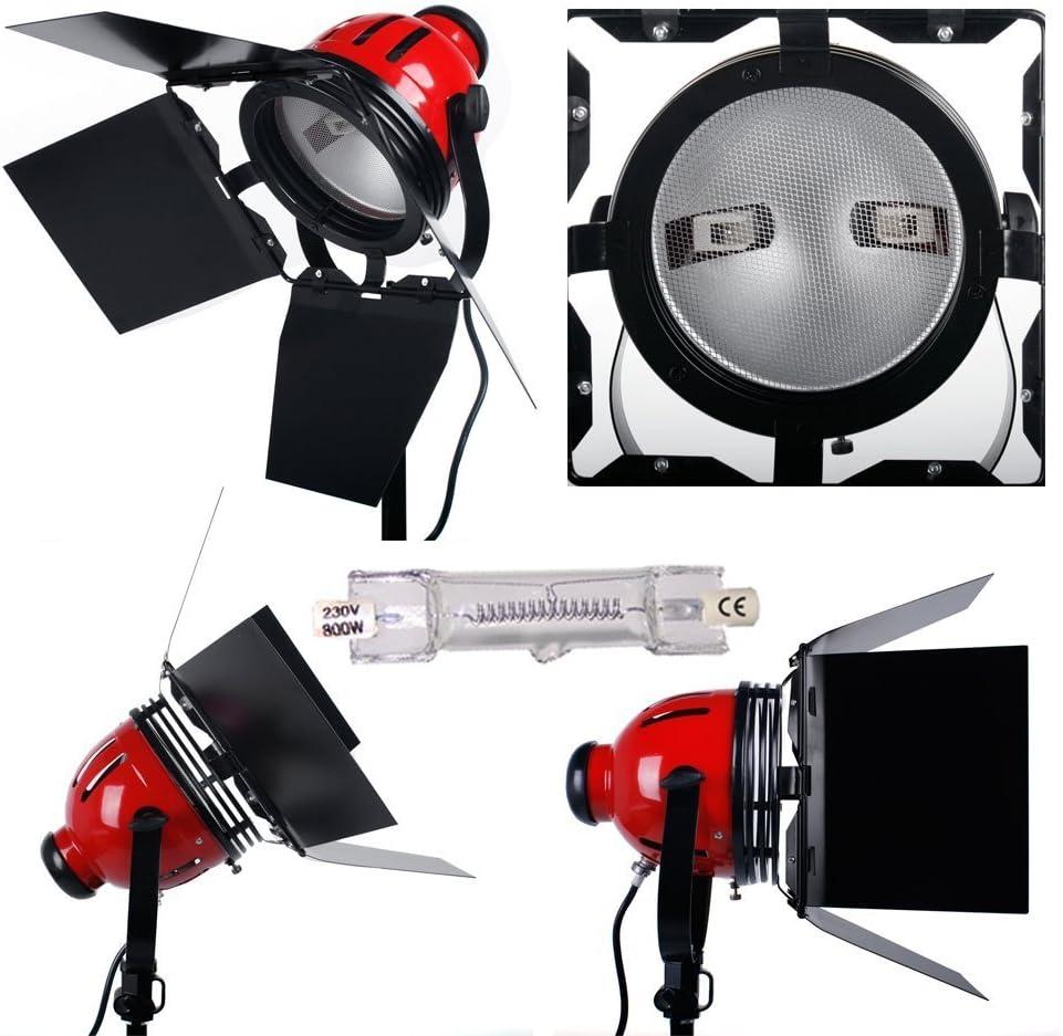 Stative Dimmer Abschirmklappe set und Tasche 800 W *3 Fotografie Halogen Videolicht Studioset Filmleuchte Videoleuchte Set Redhead Dauerlicht Set inkl