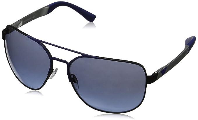 Emporio Armani 0EA2064 Gafas de sol, Black/Matte Blue, 62 ...