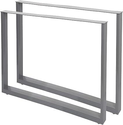 Bastidores para mesa 80x72 cm Recubrimiento polvo gris Caballetes ...