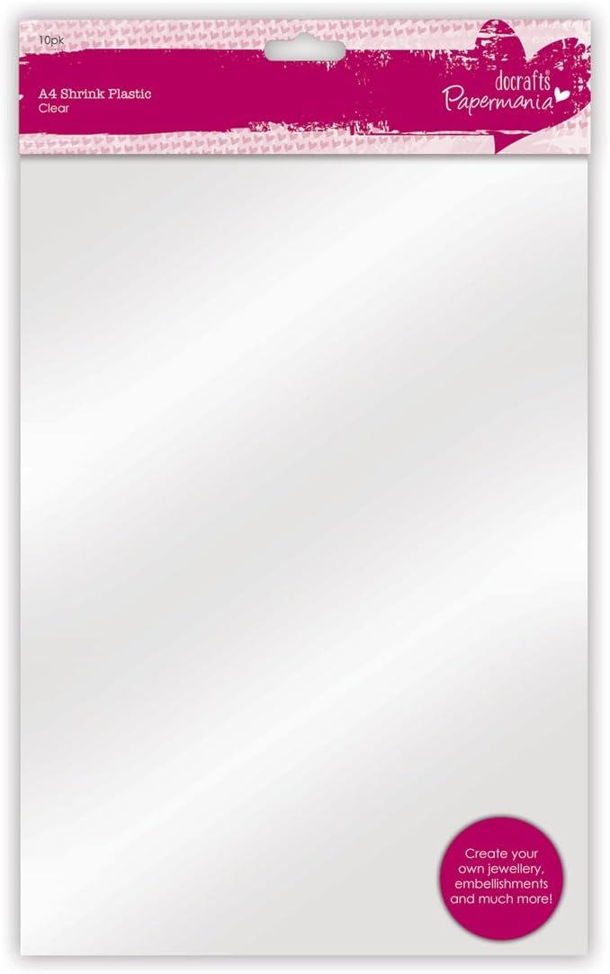 Papermania - Piezas de Plástico, 1 paquete x 10 hojas