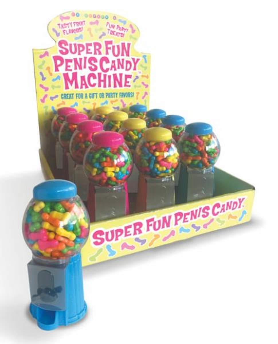 Super Fun Penis Candy Machine Display of 12 by Candyprints
