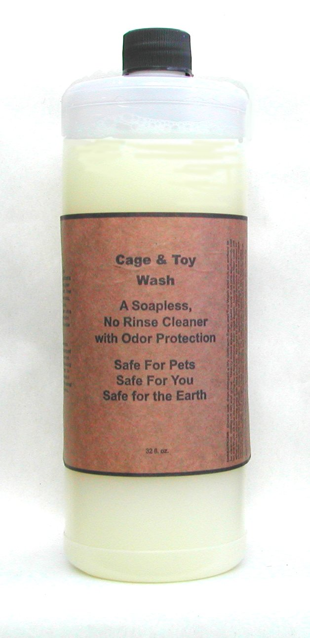 Natural Cage Cleaner with Odor Prevention Cage Toy Wash for Small Animals Birds