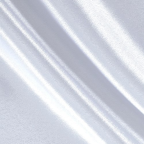 (Poly Crepe Back Satin White Fabric By The Yard)