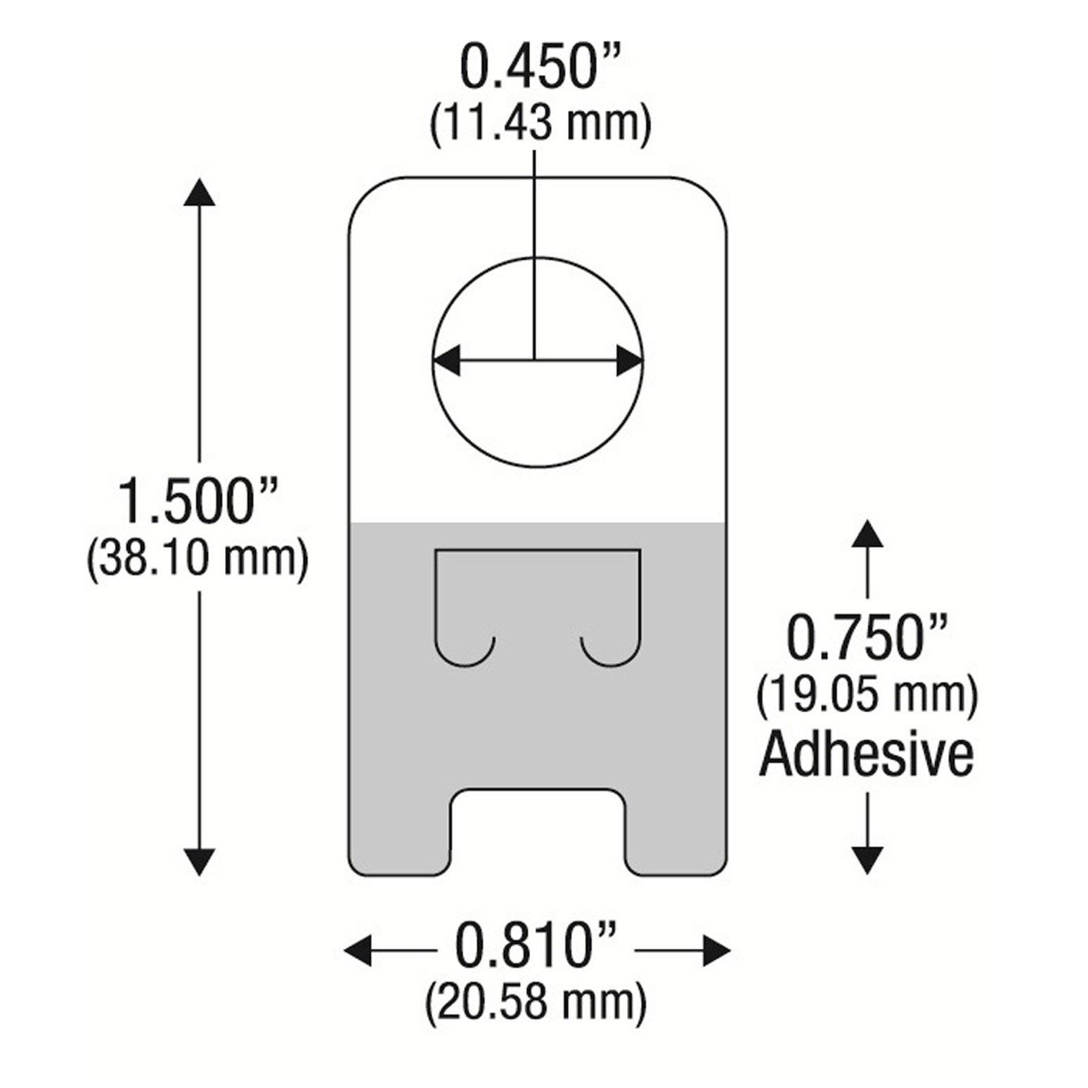 5000 Self Adhesive Clear Plastic Hang Tab Tags Hanger Pegbord Slatwall Hook 12Oz