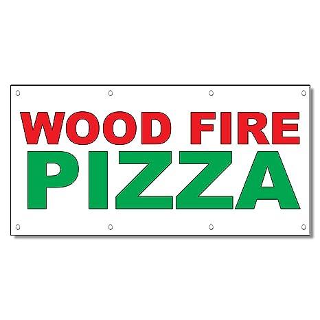 Amazon.com: Fuego de madera, pizza rojo verde Alimentos Bar ...