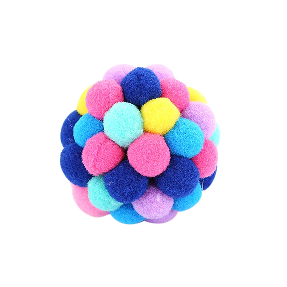 Finance Plan Kitten Toys Balls Creative Colorful Elastic Ball Cat Kitten Teaser Pet Interactive Playing Toy