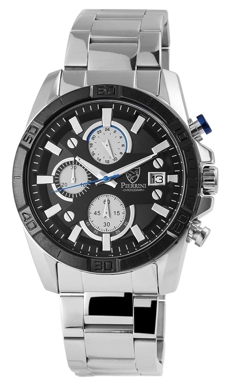 Pierrini Herren Chronograph mit Armband aus Edelstahl | Sicherheitsfaltschließe - 291021100010