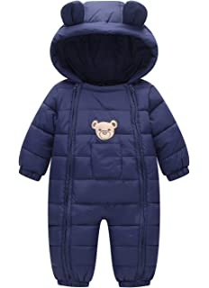 f8d686b79 Down Cotton Baby Romper Baby Winter Zip Coat Cute Baby Snowsuit with ...