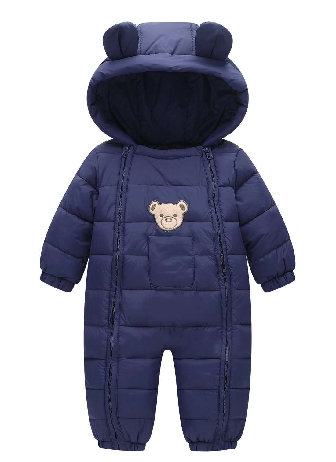 Happy Cherry Baby Cotton Clothes Down Jacket Jumpsuits Infant Crawling Clothes Dark Blue 3-9 Months by Happy Cherry