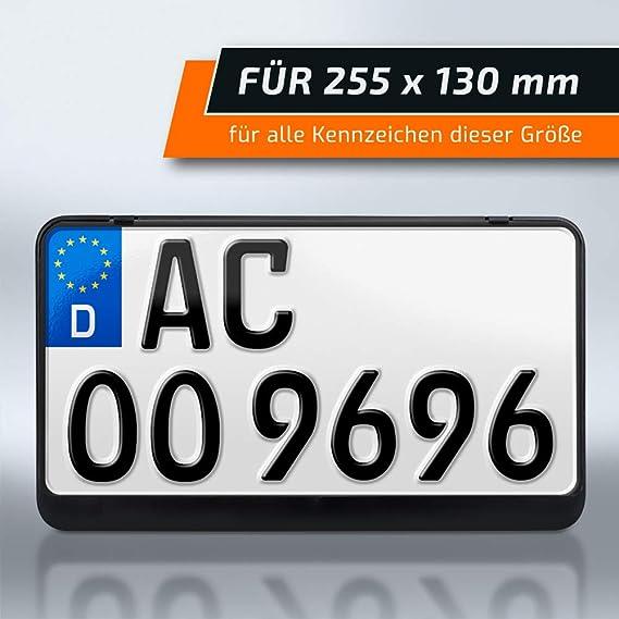 Schildevo Kennzeichenhalter 255 X 130 Mm Schwarz Zweizeilig Motorrad Roller Traktor Nummernschildhalter Kennzeichen Halterung Dhl Versand Auto