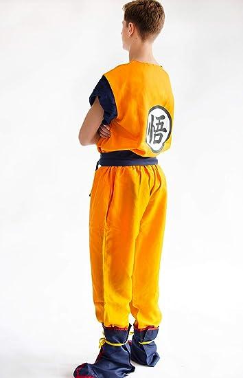 CoolChange disfrace Cosplay de Son Goku de la Serie La Bola del dragón. Talla: S