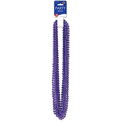 Party Beads - Small Round (purple) (12/Card): Toys & Games