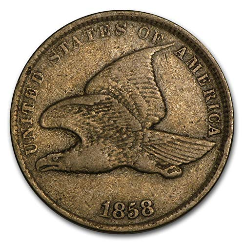 - 1858 Flying Eagle Cent, Small Letters, Average Circulation Good to Fine