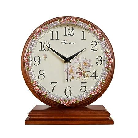 NNIU-ZH Reloj de Escritorio- Reloj de Escritorio de Madera, Reloj ...