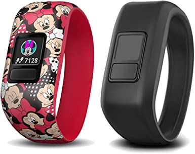 Garmin Vivofit Jr 2 with Two Stretchy Bands Minnie Mouse Black