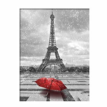 B Usstore 5D DIY Embroidery Rhinestone Iron Tower Diamond painting Cross Crafts Stitch Home Room Decor Decoration Cross Stitch Art Mural