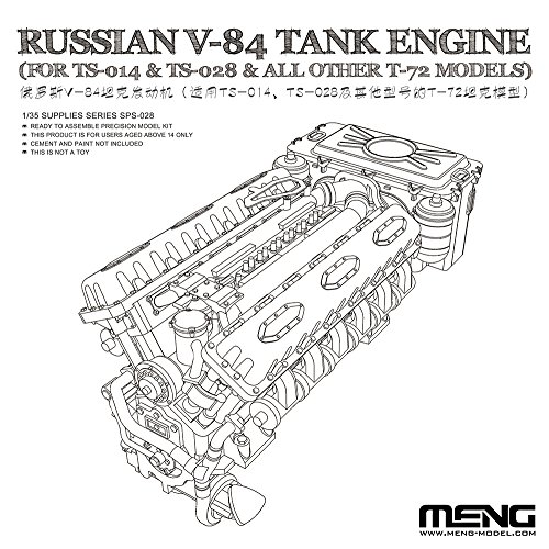 Meng Model 1:35 - Russian V-84 Engine (For TS-014 & for sale  Delivered anywhere in USA