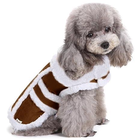 Ropa de Perro, EocuSun Ropa para Mascotas Capa para Gatos Cazadora para Perros Ropa Vellón