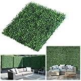 LITA Realistic & Thick Artificial Hedge Boxwood Fence Privacy Screen Panels 20'x20', UV Protection Fresh Faux Foliage Backdrop Wall Decor for Indoor Outdoor, 12 Pack