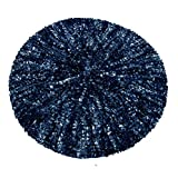Blue And Denim Two Color Woven Snood - Casual Woven Snood In Black And Blue