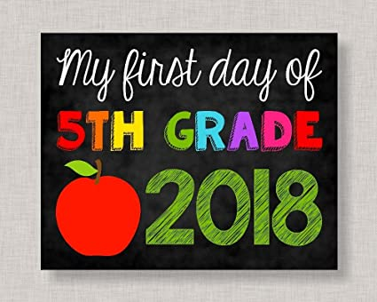 picture about First Day of 5th Grade Printable named : Olga212Patrick Initially Working day of 5th Quality Signal