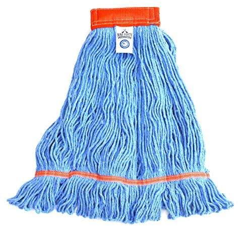 Nine Forty Industrial Strength Premium Looped End Wet Mop Floor Cleaner Kit | Large, 24 Ounce Commercial Mop Head with Aluminum Extension Handle and Flip Grip Clamp by Nine Forty (Image #7)