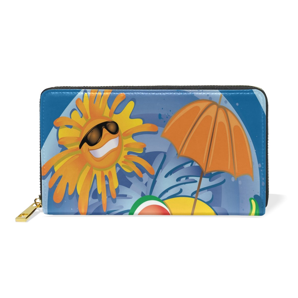 Cool Summer Genuine Leather Girl Zipper Wallets Clutch Coin Phone for Women