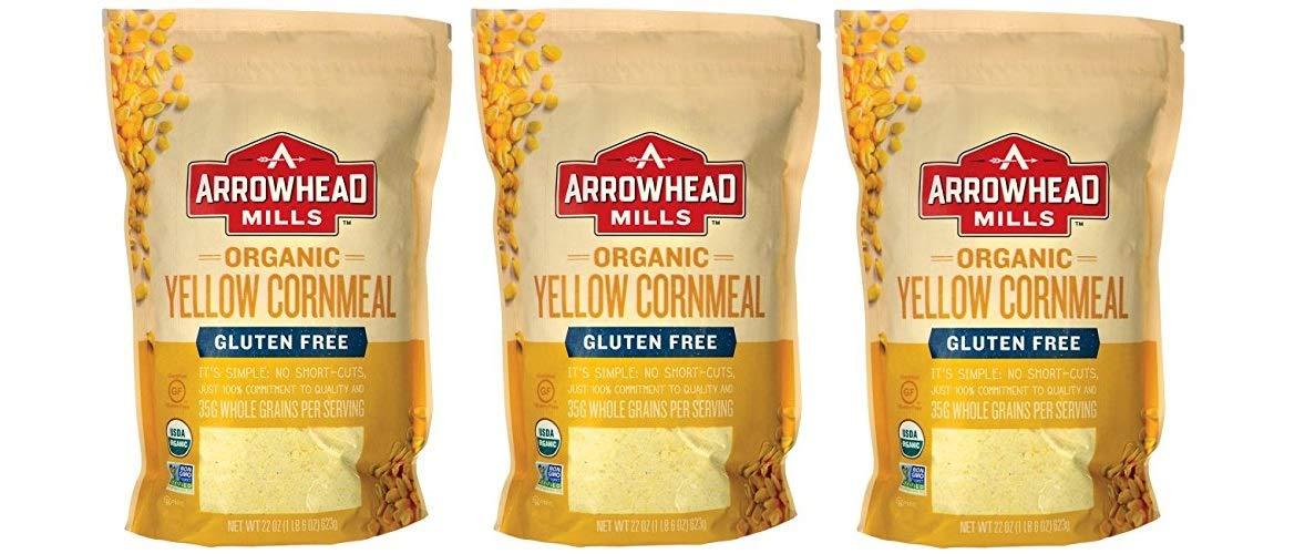 Arrowhead Mills Cornmeal Yellow Organic, 22 oz (3)