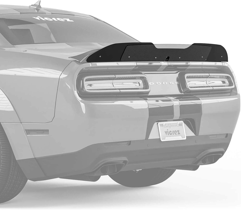 Gloss Black Dodge Challenger SRT//Hellcat 2015-2020 Vicrez V3R Wicker Bill Add-On vz101498