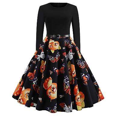 Chic Noel Retro koly De Longue Robe Soirée Vintage Femme 4LjA5R