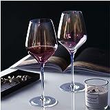 Amesser Crystal Wine Glasses 22 - Ounce Set of 2, Lead·Free Handblown Italian Style Stemware Wine glass for Burgundy…