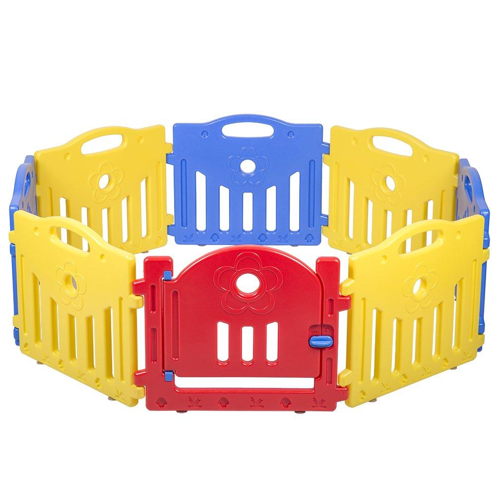 Adjustable Baby Playpen Kids 8 Panel Safety Play Center Yard Home Indoor Outdoor Pen