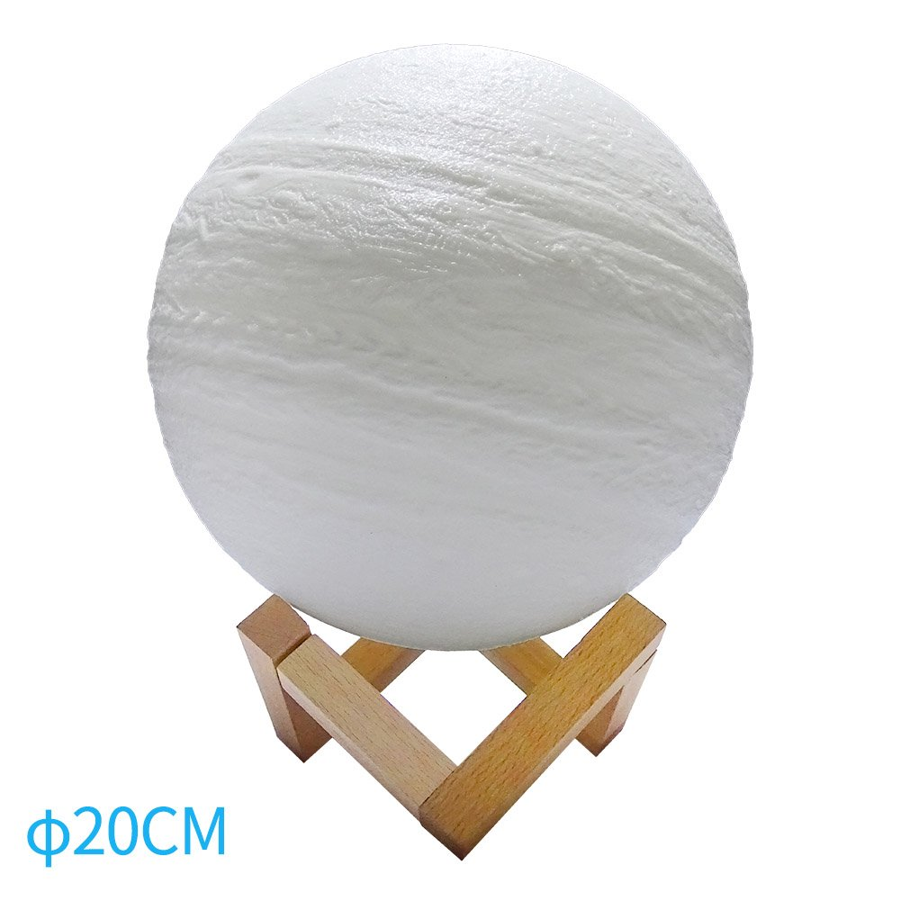 Ywillink 3D Print Night Light Jupiter Lamp Rechargeable Change LED Home Decoration Creative Gift New