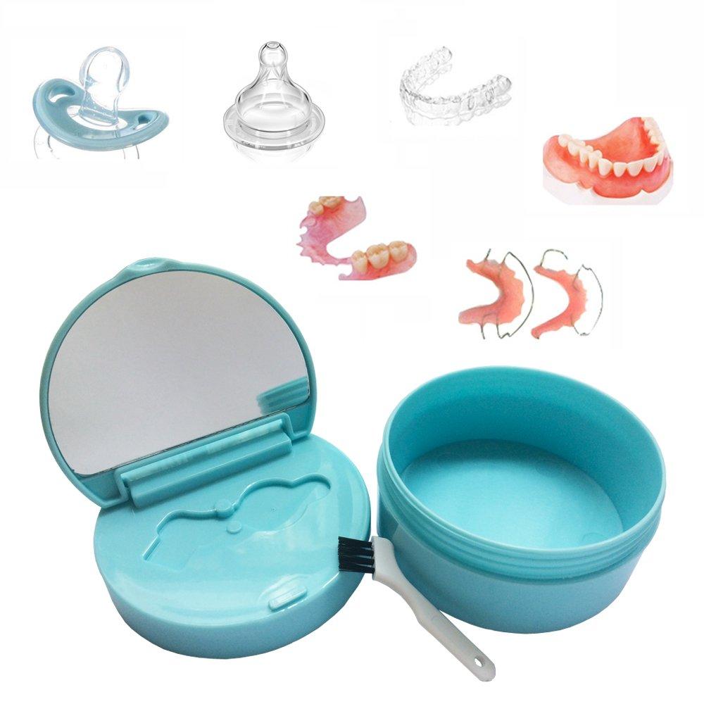 KNONGMAYI Easy Carry Waterproof Invisalign Retainer Denture Bath Appliance Denture Case by KNONGMAYI (Image #6)