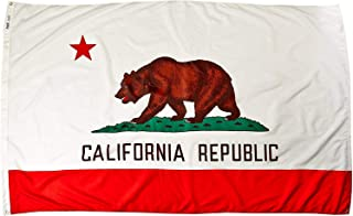 product image for Annin Flagmakers Model 140480 California Flag Nylon SolarGuard NYL-Glo, 5x8 ft, 100% Made in USA to Official State Design Specifications