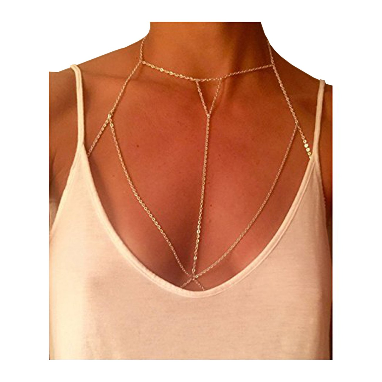VITORIA'S GIFT Simple Women Body Jewelry Handmade Chain Tassel Chest Chain VITORIA'S GIFT YL-000
