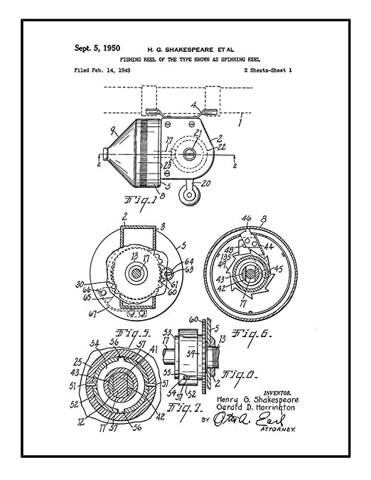 Amazon Com Fishing Reel Of The Type Known As Spinning Reel Patent