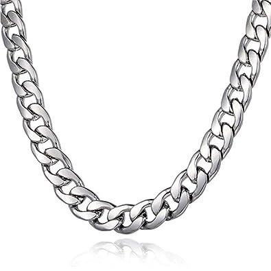 Amazon.com: wayne-70 cm, tono de plata 23.6 inch Cool acero ...
