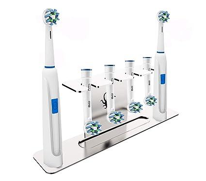 OCTOPODIS - Sostenedor de acero inoxidable para Cepillo de dientes eléctrico, compatible con Oralb,