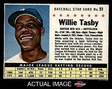 Amazoncom 1961 Post Cereal 51 Box Willie Tasby Boston