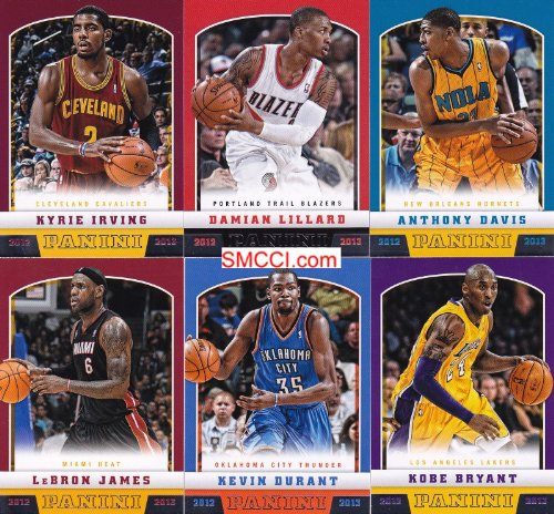 Panini 2012 / 2013 Basketball Series Complete Mint 300 Card Hand Collated Set; It Was Never Issued in Factory Form. Great Selection of 100 Different Rookie Cards Including Kyrie Irving, Anthony Davis, Damian Lillard, Kemba Walker and Others Plus Stars and Hall of Famers Including Larry Bird, Kobe Bryant, Lebron James, Shaquille O'Neal, Pete Maravich, Blake Griffin, Kevin Durant, George Mikan, Derrick Rose, Dwyane Wade, Carmelo Anthony and Many Others!!