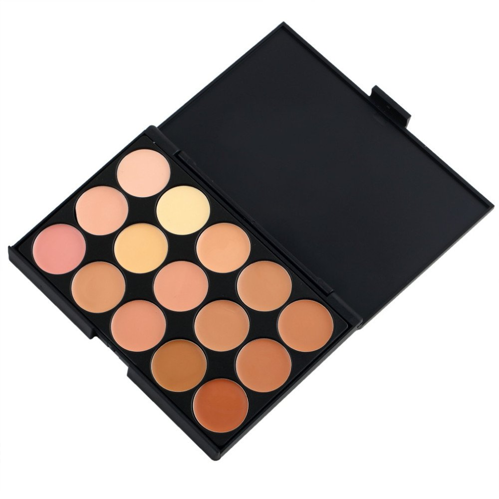 MagiDeal 15 Colors Cream Concealer Highlight Face Contour Foundation Pallete Set - 2 Style to Choose - 2
