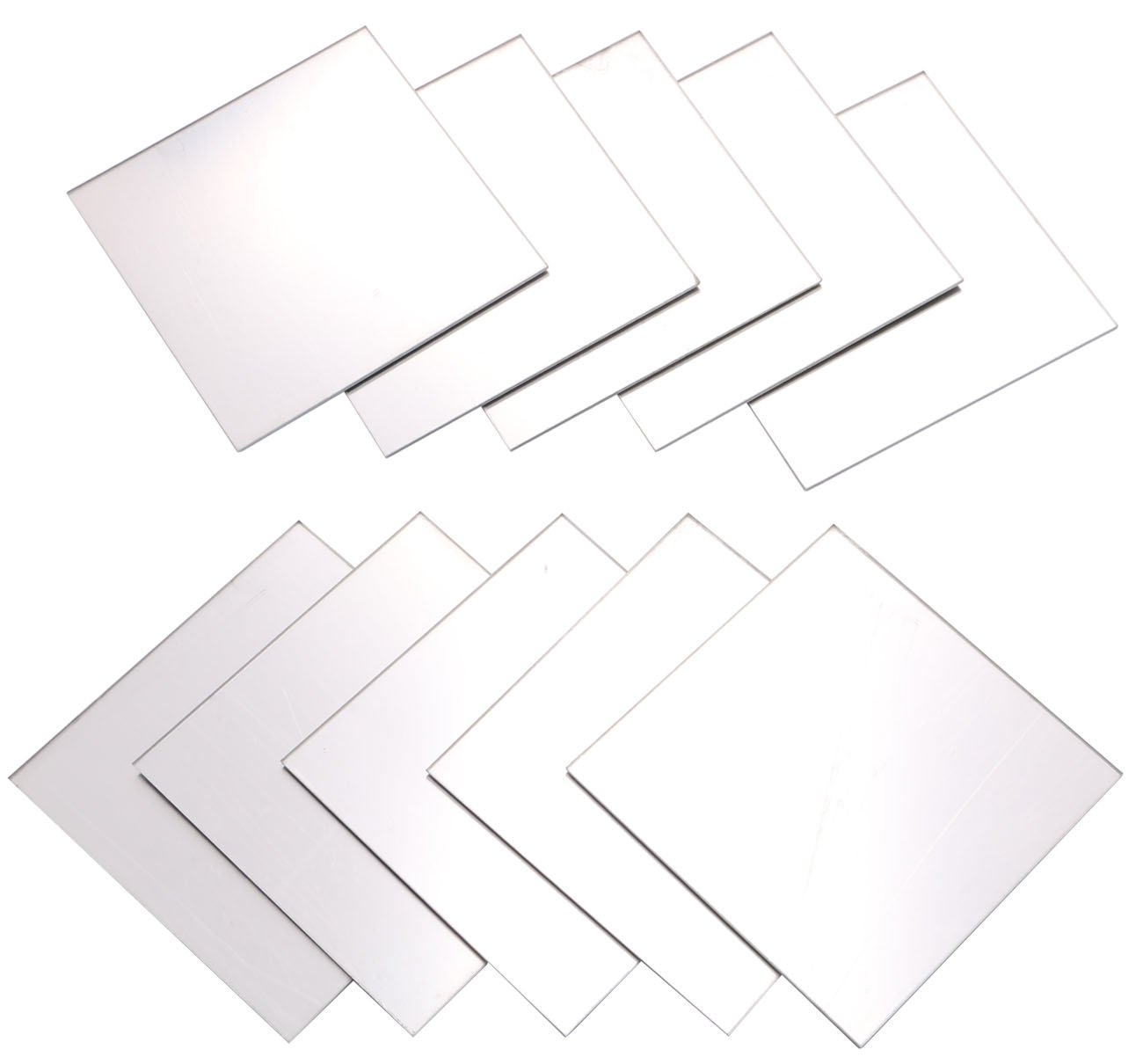 3.9x3.9 Square Plastic Module Plate for DIY Model Project Picture Frame Mirror Material Supplies by Yeeco 10PCs Mirrored Acrylic Plexiglass Sheet