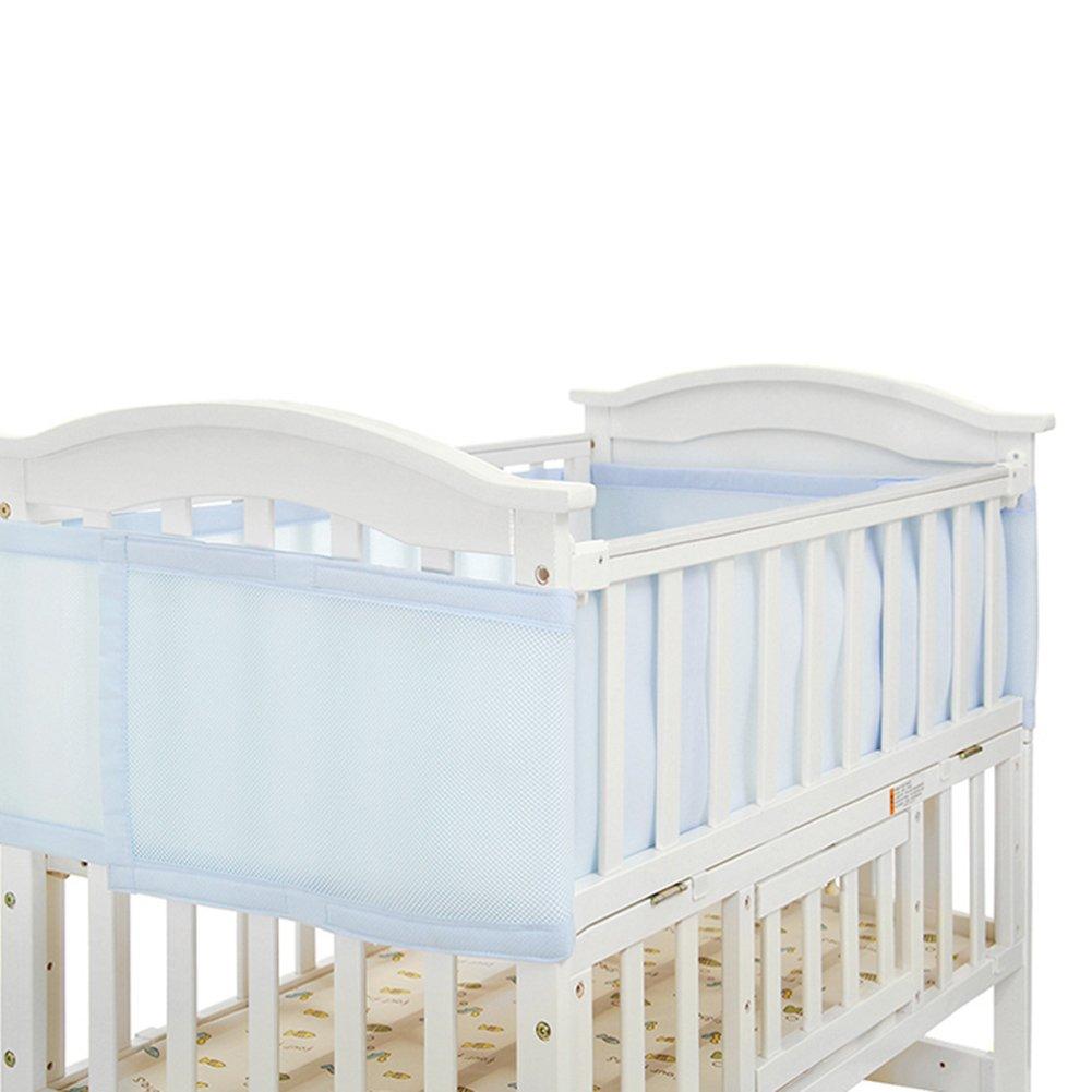 A Per Ropa para Barreras de Cuna Beb/és Protectores de Seguridad para Cama Ni/ños Infantiles Fald/ón Cuna 3D Antigolpeas Ajuastables