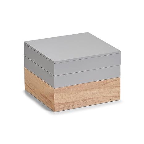 Zeller Caja, Madera, Gris, 18 x 18 x 13 cm