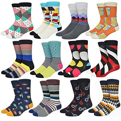 Socks Design Multi-Color Fashion Dress Men's Women's Socks (Color B) (Multi Color Womens Socks)