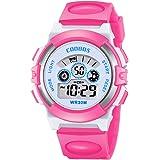 Kids Digital Watch with LED Light Waterproof Outdoor Electronic Wristwatch for Boys & Girls